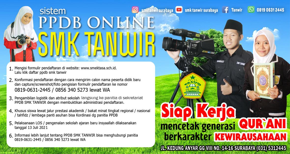 PPDB Online SMK Tanwir Ok